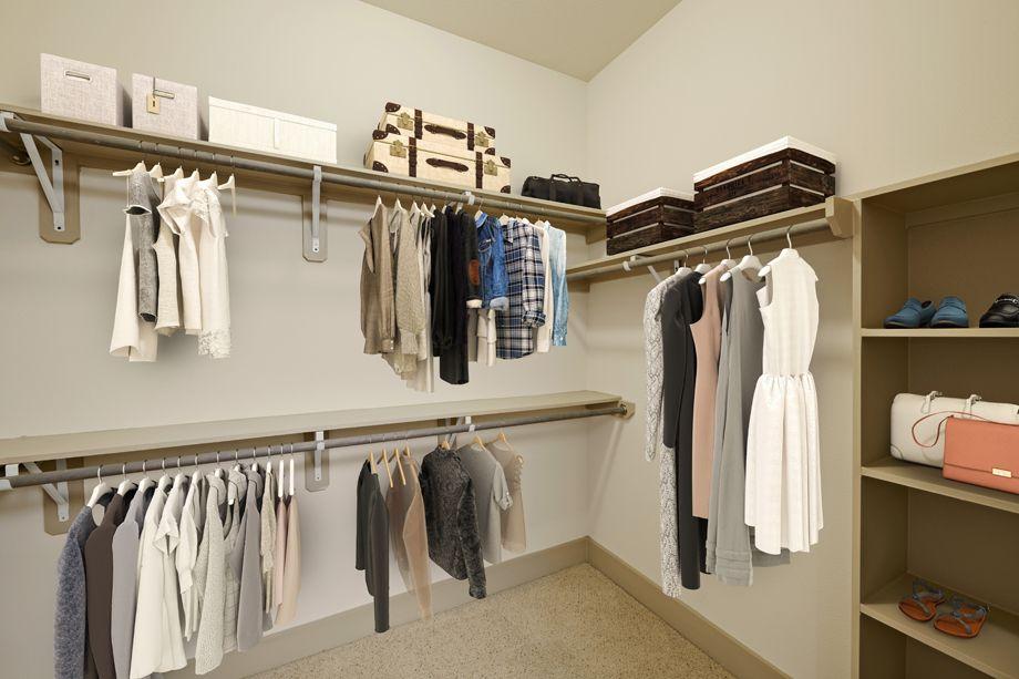 Extensive closet at Camden Lamar Heights in Austin, TX