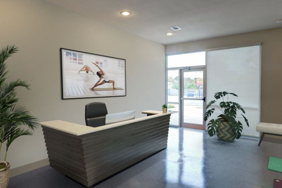 Yoga Live/Work Space Entrance at Camden Lamar Heights in Austin, TX