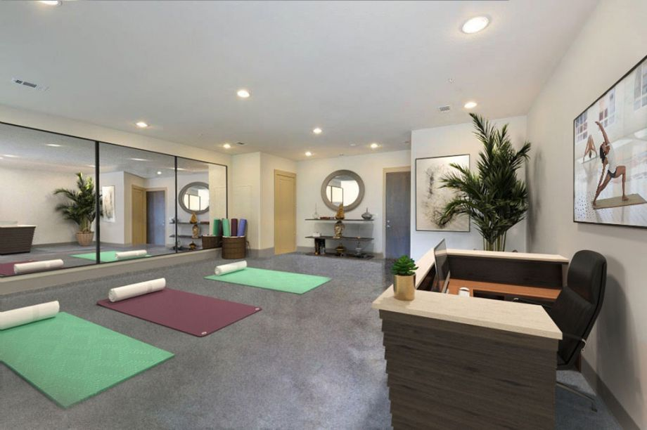 Yoga Live/Work Space at Camden Lamar Heights in Austin, TX