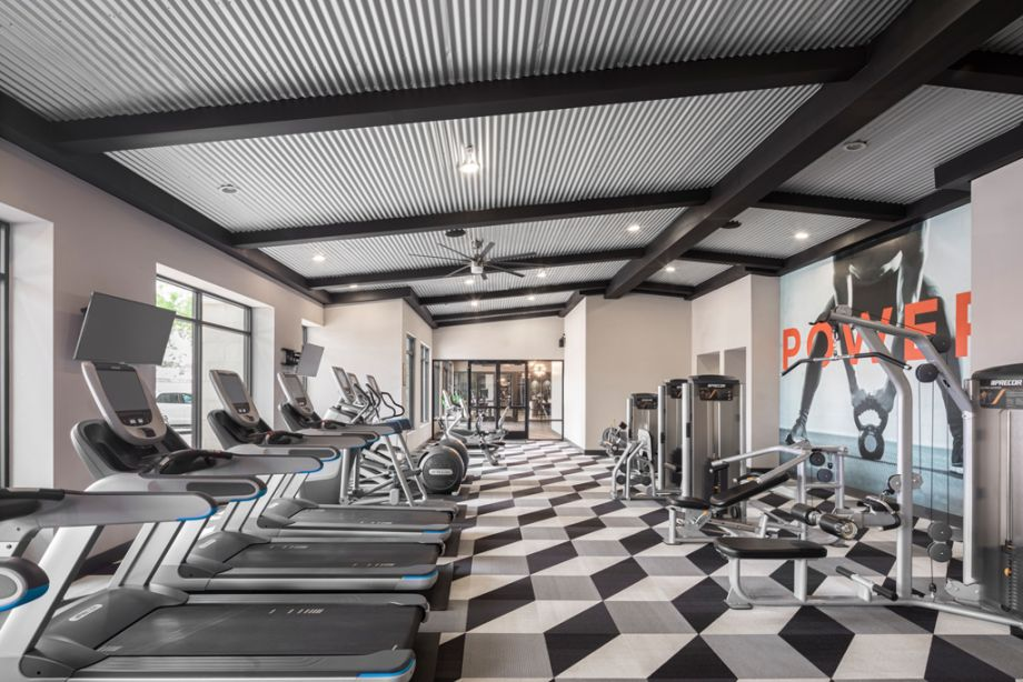 Fitness Center with Cardio Machines at Camden Old Town Scottsdale Apartments in Scottsdale, Arizona
