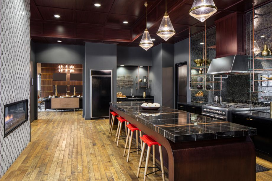 Resident Lounge Kitchen at Camden Old Town Scottsdale Apartments in Scottsdale, Arizona