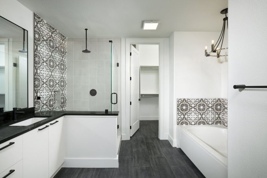 Master Bathroom at Camden Post Oak High Rise Luxury Apartments