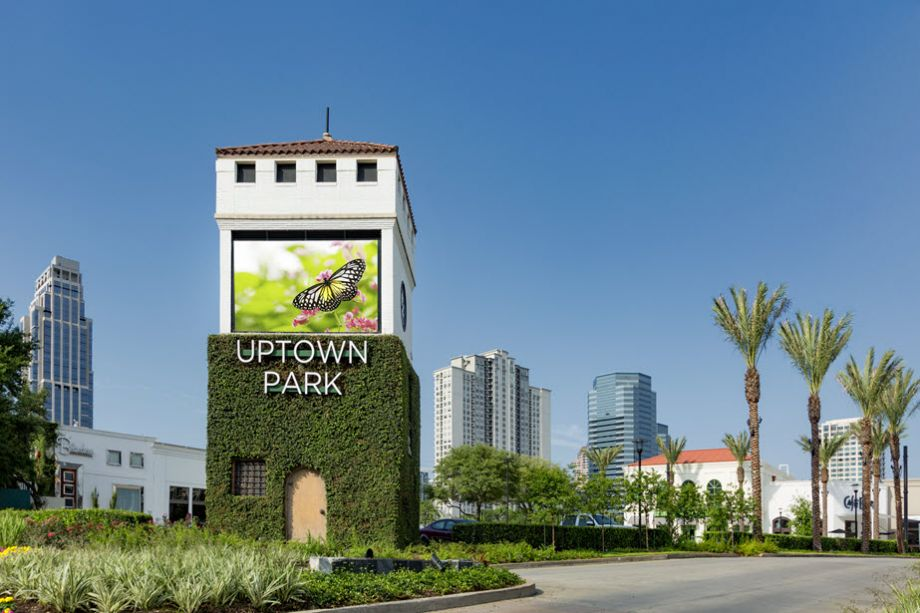 Steps away from Uptown Park Shops, Restaurants at Camden Post Oak High Rise Luxury Apartments in Houston Galleria, Texas