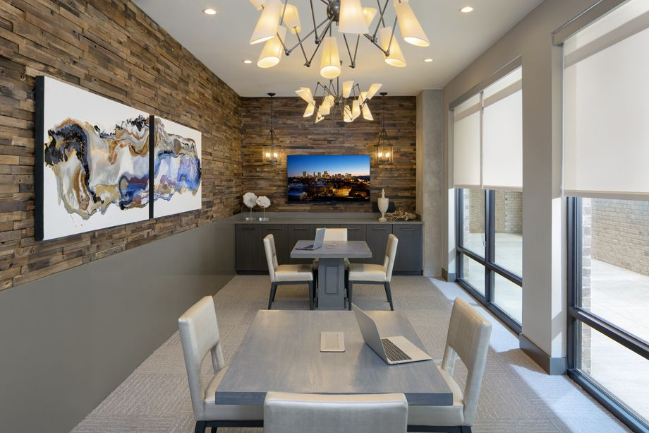 Camden RiNo apartments in Denver, Colorado live work conference room