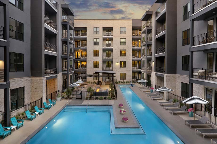 Camden RiNo apartments in Denver, Colorado live work year round pool