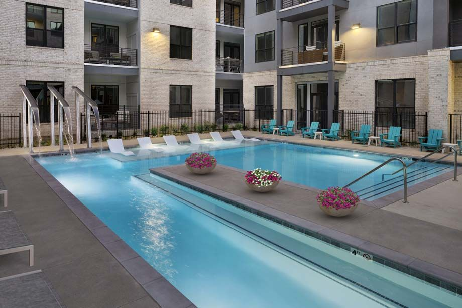 Camden RiNo apartments in Denver, Colorado live work heated pool