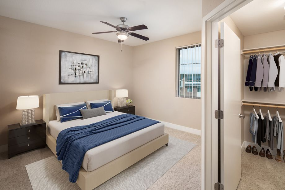Penthouse Bedroom at Camden Sotelo Apartments in Tempe, Arizona