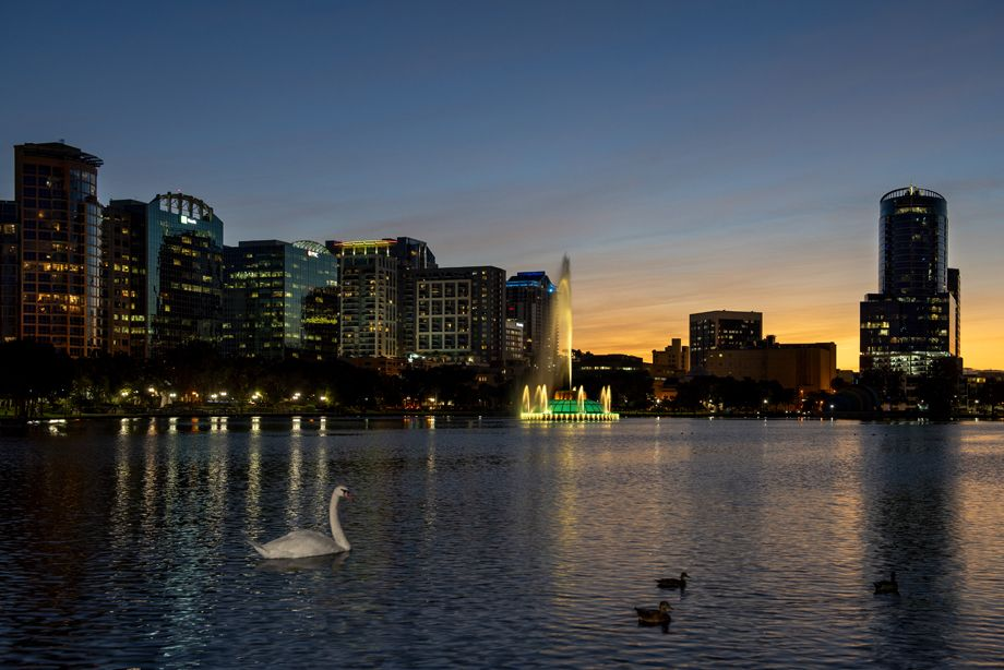 Nearby Lake Eola at Camden Thornton Park apartments in Orlando, FL