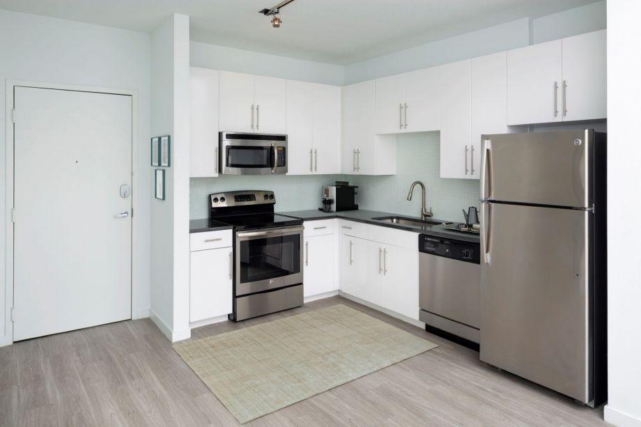 Kitchen at Camden Thornton Park apartments in Orlando, FL
