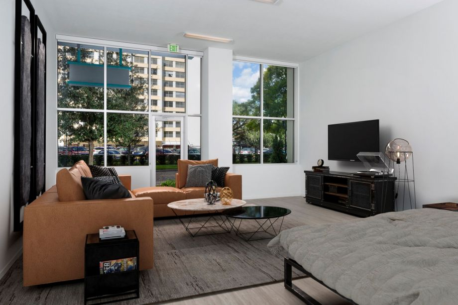 Living Room at Camden Thornton Park apartments in Orlando, FL