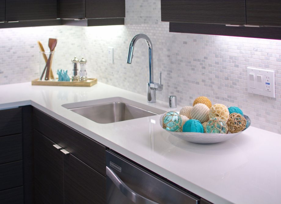 Kitchen Backsplash at The Camden Apartments in Hollywood, CA
