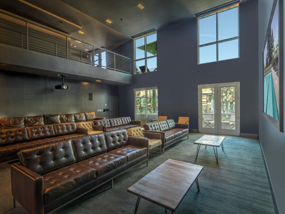 Theater Room at The Camden Apartments in Hollywood, CA