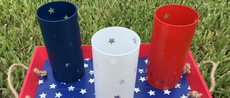 Easy DIY 4th of July Patriotic Candle Holders