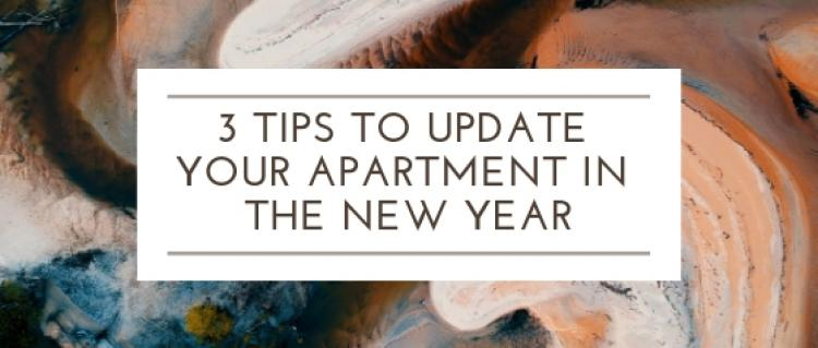3 Tips to Update Your Apartment in the New Year