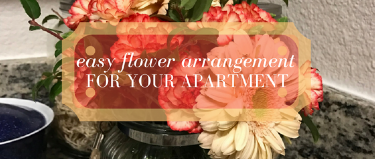 Easy Flower Arrangement for an Apartment