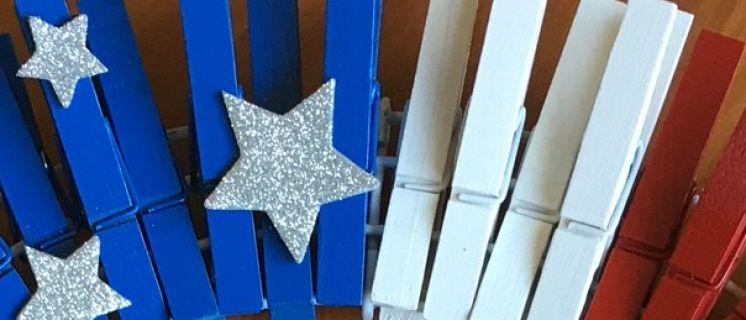 DIY: Easy Patriotic Clothespin Flag Wreath