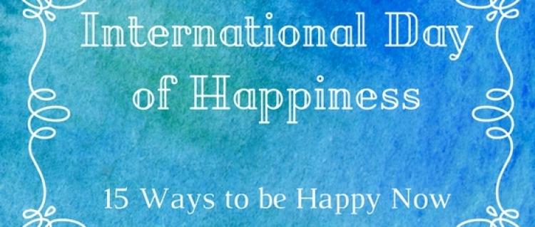 Ways to be happy