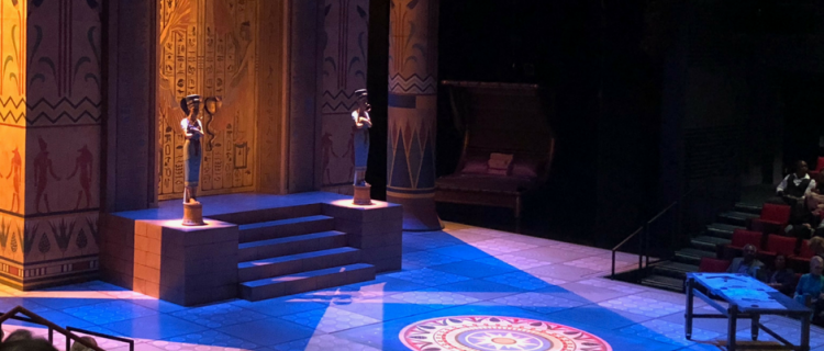 This photo was taken before the performance of Cleo at Alley Theatre in Houston, Texas.