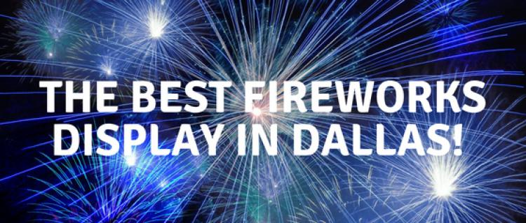 The Best Fireworks Display in Dallas is Addison Kaboom Town near Camden Addison Apartments in Addison, TX