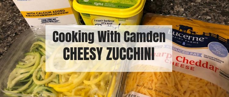I came across this recipe for Cheesy Zucchini. This can be either a side dish or full meal.