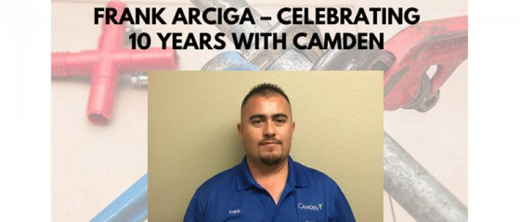 Frank Arciga – Celebrating 10 Years with Camden