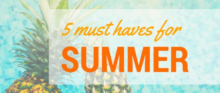 5 must haves for summer elizabeth david. Black Bedroom Furniture Sets. Home Design Ideas