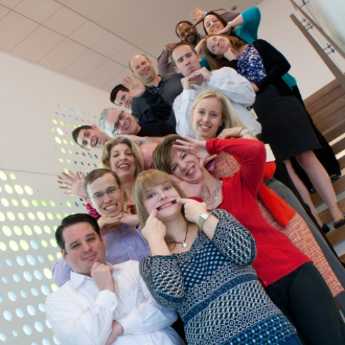 Camden employees having fun at the corporate office in Houston, Texas