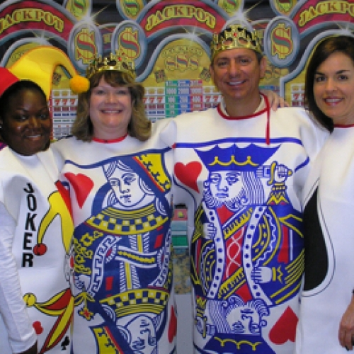 Camden employees dressed up as a deck of cards for an event
