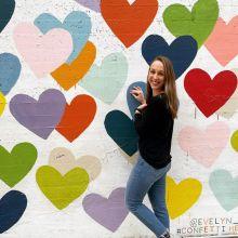 Confetti Hearts Wall in Charlotte, NC