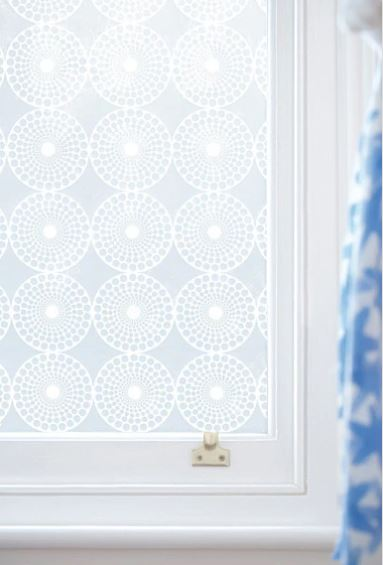 Window with designed adhesive on it